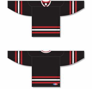 NEW CHICAGO 3RD BLACK Sleeve Stripes Pro Blank Hockey Jerseys