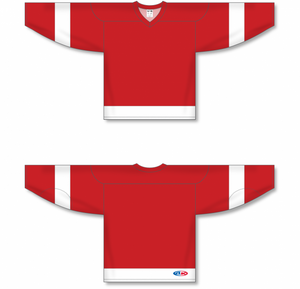DETROIT RED Sleeve Stripes Pro Blank Hockey Jerseys