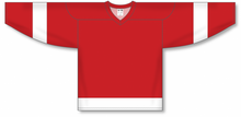 Load image into Gallery viewer, DETROIT RED Sleeve Stripes Pro Blank Hockey Jerseys