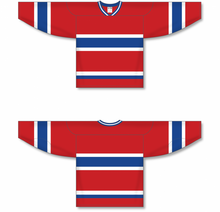 Load image into Gallery viewer, MONTREAL RED Sleeve Stripes Pro Blank Hockey Jerseys