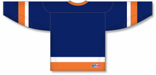 Load image into Gallery viewer, NEW YORK ISLANDERS NAVY Sleeve Stripes Pro Blank Hockey Jerseys