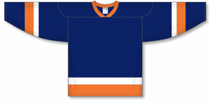 NEW YORK ISLANDERS NAVY Sleeve Stripes Pro Blank Hockey Jerseys