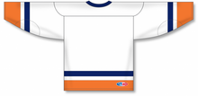 Load image into Gallery viewer, NEW YORK ISLANDERS WHITE Sleeve Stripes Pro Blank Hockey Jerseys