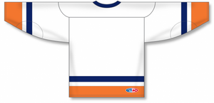 NEW YORK ISLANDERS WHITE Sleeve Stripes Pro Blank Hockey Jerseys