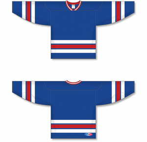 NEW YORK RANGERS ROYAL Sleeve Stripes Pro Blank Hockey Jerseys