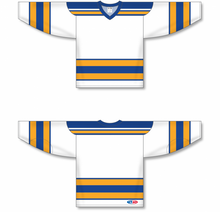 Load image into Gallery viewer, CLASSIC ST. LOUIS WHITE Sleeve Stripes Pro Blank Hockey Jerseys
