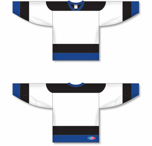TAMPA BAY WHITE Sleeve Stripes Pro Blank Hockey Jerseys