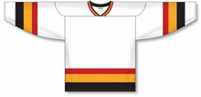 Load image into Gallery viewer, VANCOUVER WHITE Sleeve Stripes Pro Blank Hockey Jerseys