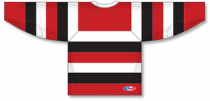 67'S AWAY (OTTAWA) Knitted Body And Sleeve Stripes Blank Hockey Jerseys