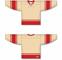 Load image into Gallery viewer, 2004 ALL STARS CREAM Knitted Body And Sleeve Stripes Blank Hockey Jerseys