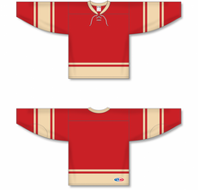 Load image into Gallery viewer, 2004 ALL STARS RED Lace Neck Pro Blank Hockey Jerseys