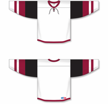 Load image into Gallery viewer, 2015 ARIZONA WHITE Lace Neck With Underlay Blank Hockey Jerseys