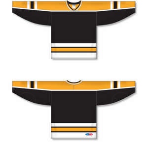 BOSTON BLACK Crossover V-neck Pro Blank Hockey Jerseys