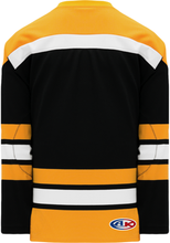 Load image into Gallery viewer, VINTAGE BOSTON BLACK Knitted Body And Sleeve Stripes Blank Hockey Jerseys