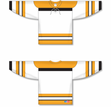 Load image into Gallery viewer, VINTAGE BOSTON WHITE Pro Blank Hockey Jerseys