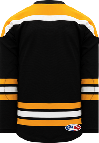 BOSTON BLACK Crossover V-neck Blank Hockey Jerseys
