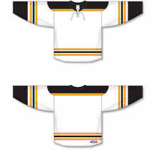 Load image into Gallery viewer, 2007 BOSTON WHITE Knitted Body And Sleeve Stripes Blank Hockey Jerseys