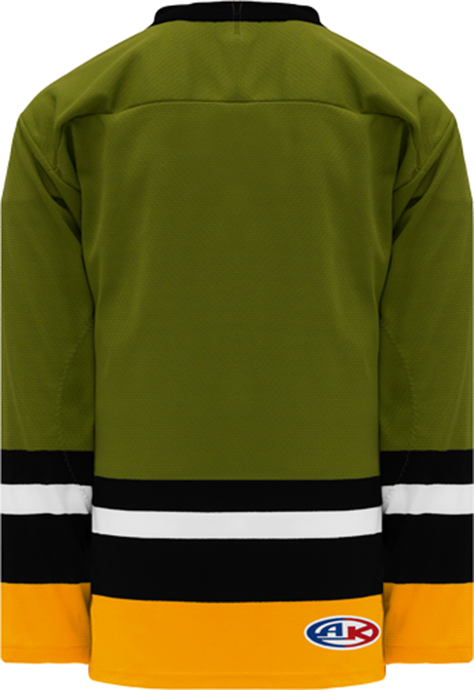BRAMPTON OLIVE Sleeve Stripes Pro Blank Hockey Jerseys