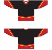 Load image into Gallery viewer, NEW CALGARY 3RD BLACK Pro Blank Hockey Jerseys