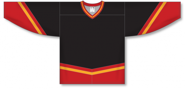 NEW CALGARY 3RD BLACK Pro Blank Hockey Jerseys