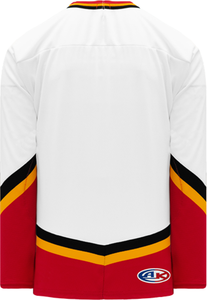 NEW CALGARY 3RD WHITE V-neck Pro Blank Hockey Jerseys