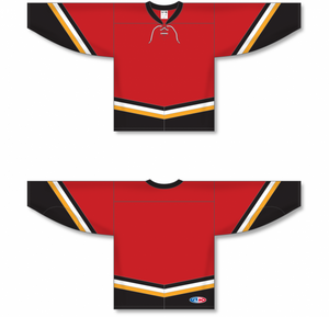 NEW CALGARY 3RD RED Pro Blank Hockey Jerseys