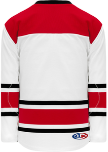 2013 CAROLINA WHITE Knitted Body And Sleeve Stripes Pro Blank Hockey Jerseys
