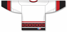 Load image into Gallery viewer, CAROLINA WHITE V-neck Blank Hockey Jerseys