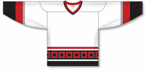 CAROLINA WHITE V-neck Blank Hockey Jerseys