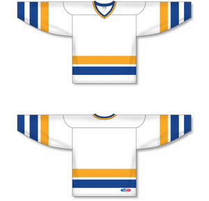 Charlestown Chiefs Blank Hockey White Jerseys
