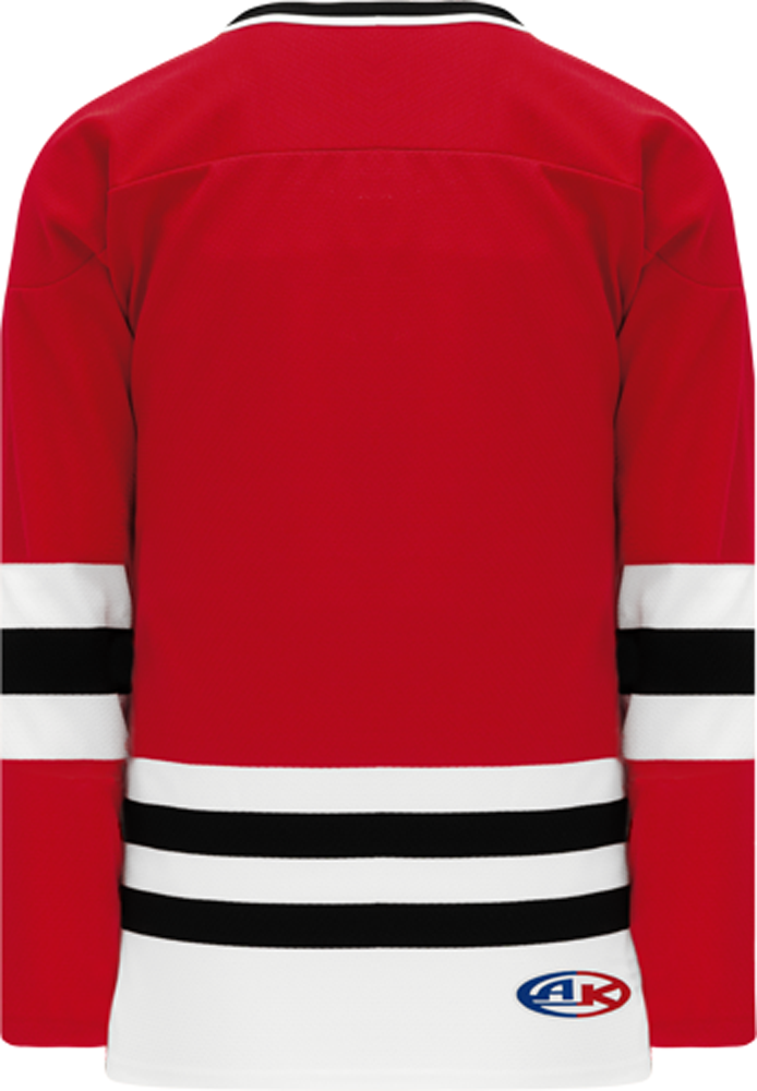 CHICAGO Red, White, Black Sleeve Stripes Pro Blank Hockey Jerseys