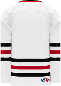 CHICAGO WHITE Sleeve Stripes Pro Blank Hockey Jerseys