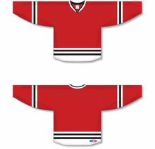 Load image into Gallery viewer, BOSTON BLACK Crossover V-neck Blank Hockey Jerseys