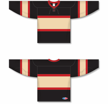 Load image into Gallery viewer, CHICAGO WINTER CLASSIC BLACK Pro Blank Hockey Jerseys