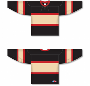 CHICAGO WINTER CLASSIC BLACK Pro Blank Hockey Jerseys