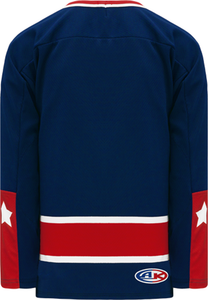 CAROLINA RED Sublimated Ak - Knit Body Panel Blank Hockey Jerseys