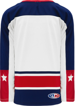 Load image into Gallery viewer, COLUMBUS WHITE V-neck Pro Blank Hockey Jerseys