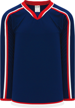 Load image into Gallery viewer, 2010 COLUMBUS NAVY Gussets Blank Hockey Jerseys