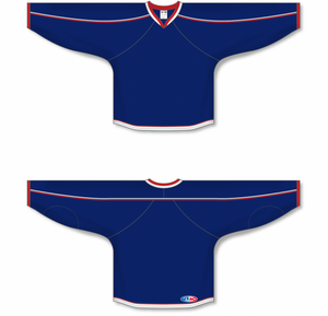 2010 COLUMBUS NAVY Gussets Blank Hockey Jerseys
