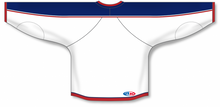 Load image into Gallery viewer, 2010 COLUMBUS WHITE Taper Neck With Underlay Blank Hockey Jerseys