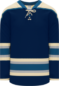 2010 COLUMBUS 3RD NAVY Pro Blank Hockey Jerseys