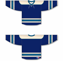 Load image into Gallery viewer, 2010 COLUMBUS 3RD NAVY Pro Blank Hockey Jerseys