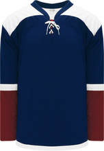 Load image into Gallery viewer, 2015 COLORADO 3RD NAVY Double Elbows Blank Hockey Jerseys