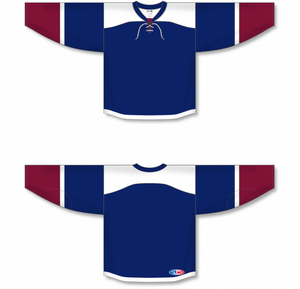 2015 COLORADO 3RD NAVY Double Elbows Blank Hockey Jerseys