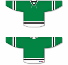 Load image into Gallery viewer, 2013 DALLAS KELLY GREEN Sleeve Stripes Blank Hockey Jerseys