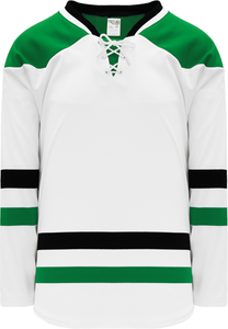 2013 DALLAS WHITE Knitted Body Blank Hockey Jerseys