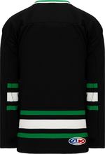 Load image into Gallery viewer, DALLAS BLACK V-neck Blank Hockey Jerseys