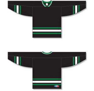DALLAS BLACK V-neck Blank Hockey Jerseys