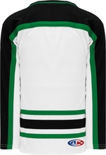Load image into Gallery viewer, DALLAS WHITE V-neck Pro Blank Hockey Jerseys