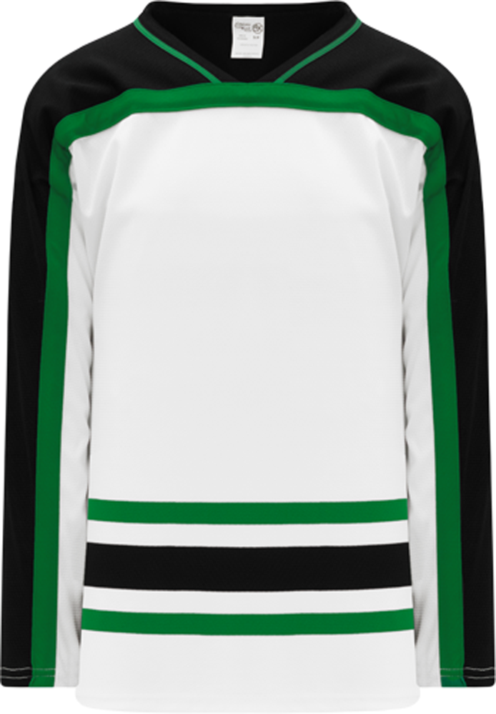 DALLAS WHITE V-neck Pro Blank Hockey Jerseys